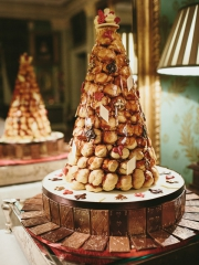 £795 Croquembouche with Chocolate Cake and Chocolate decor