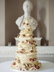 £895 4 tier Ston Easton Park Chocolate Helta-Skelta Wedding Cake