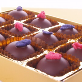 Rose and Violet Creams 12 Chocolate Box