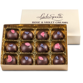 Rose and Violet Cream chocolates