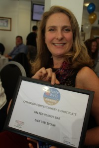 Diana Short receiving the 2015 Champion Chocolate Product award