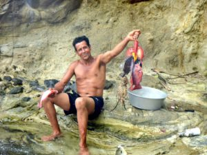 Local fisherman at Crayfish Bay