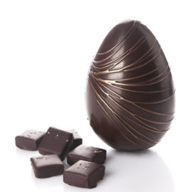 Dark Chocolate Egg and Salted Caramels