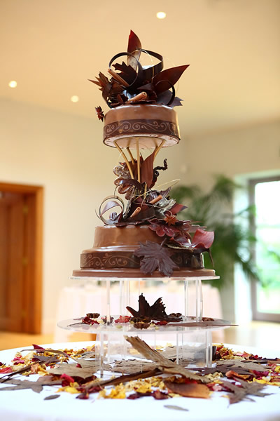 £595 - 3 tier Autumn Leaves Cake 1