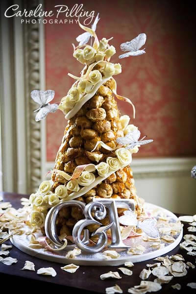 £795 Croquembouche with Chocolate roses
