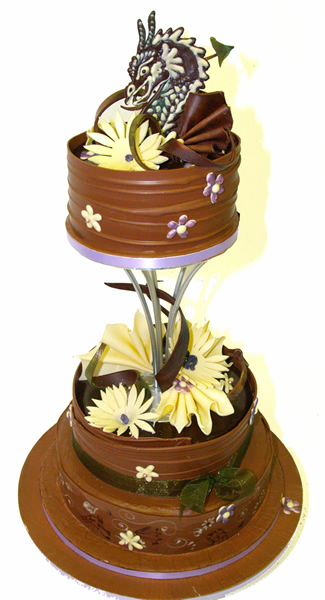 Chocolate Dragon Wedding Cake