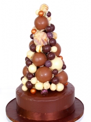 £795 Bubble Tower Chocolate Wedding cake