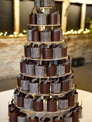 £8-25 each Individual Chocolate wedding cakes with Stripes