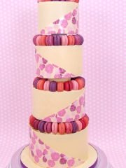 £795 4 tier Macaroons chocolate wedding cake