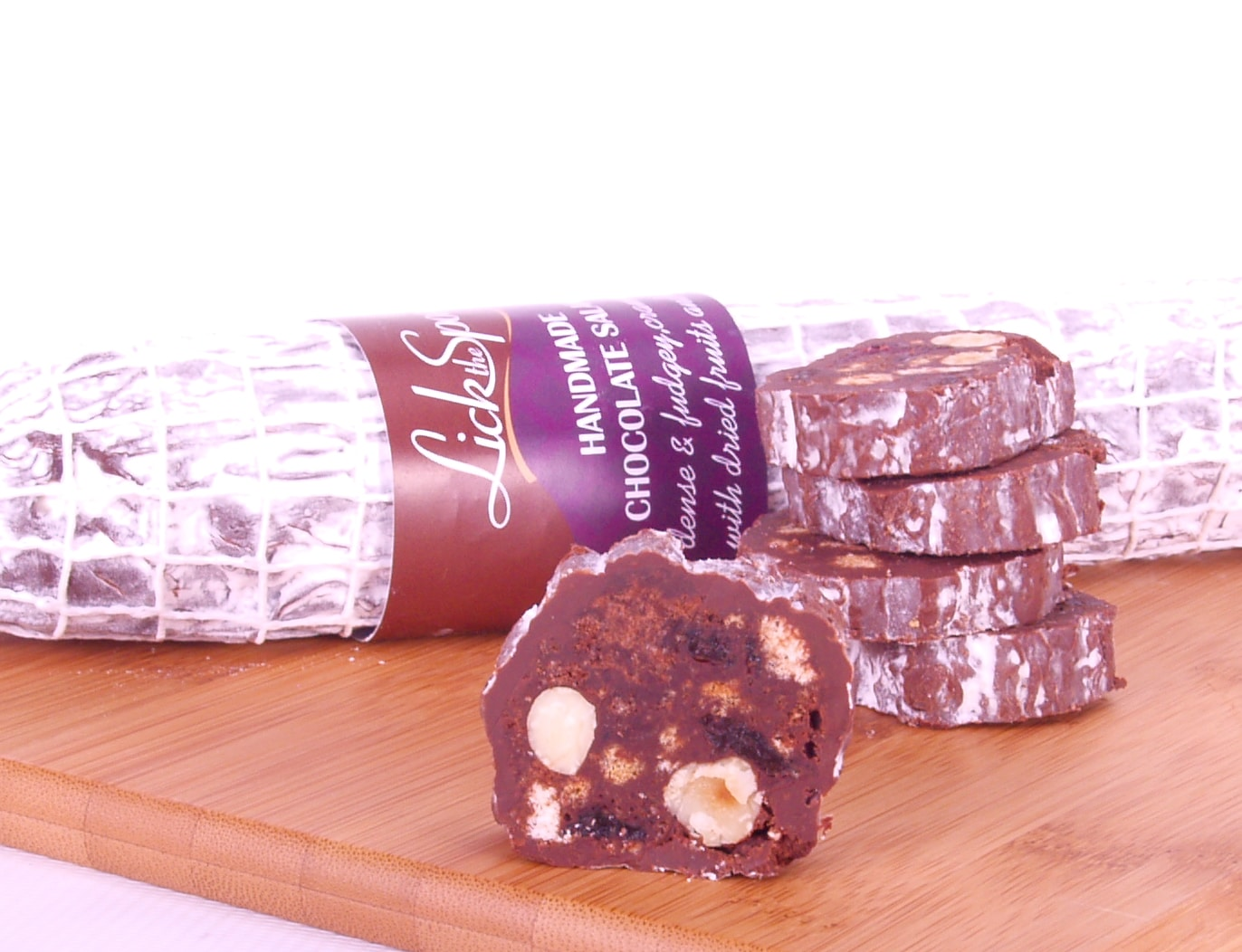 Chocolate Salami - Classic Fruit and Nut - Lick the Spoon