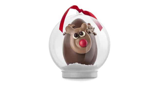 Reindeer Christmas Chocolate Snowglobe