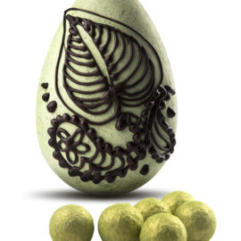 Pistachio and Sesame Easter Egg