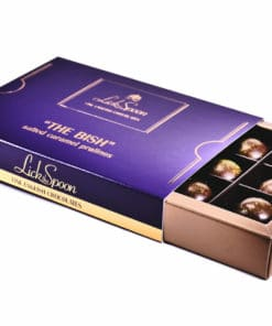 The Bish Caramel Praline 12 Chocolate box