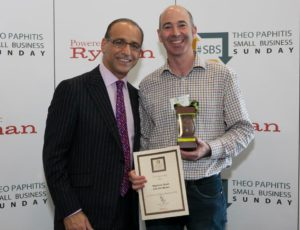 Matthew with Theo Paphitis