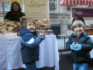 At Bristol Christmas Market with our Children