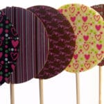 Valentine's heart lolly selection