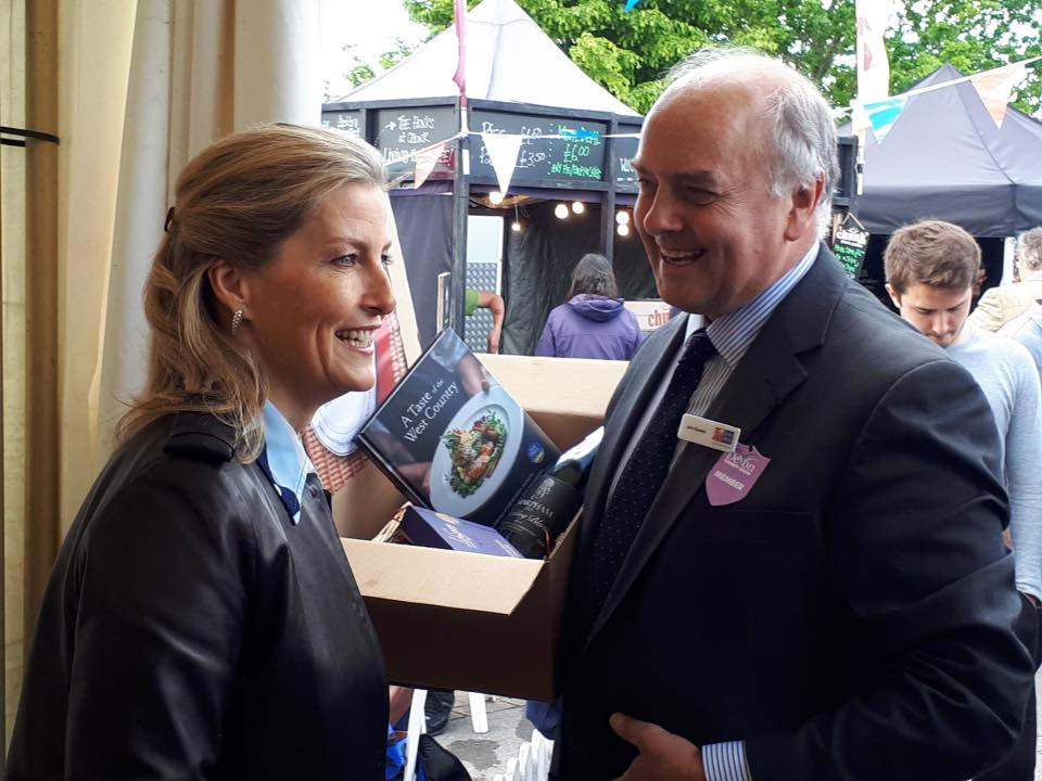 Sophie Countess of Wessex receive Lick the Spoon Chocolates