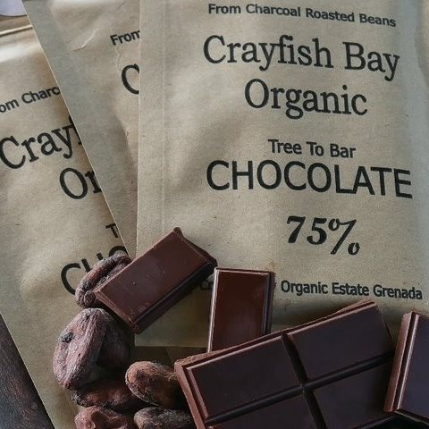 Crayfish Bay dark chocolate bars