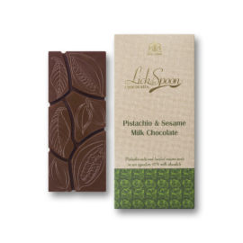 Pistachio & Sesame milk chocolate bar