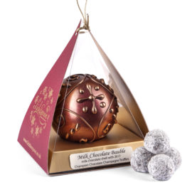 Christmas Chocolate Bauble with Champagne Truffles
