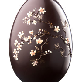 Dark Chocolate Cherry Blossom Easter Egg