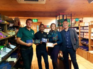 Mitch, Nicolas, Diana and Matthew at Allington Farm Shop