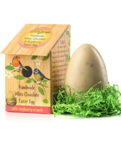White Chocolate and Raspberry Nest Box Easter Egg