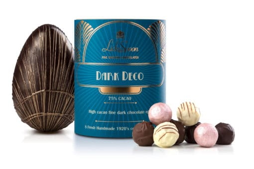 Dark Chocolate Art Deco Easter Egg