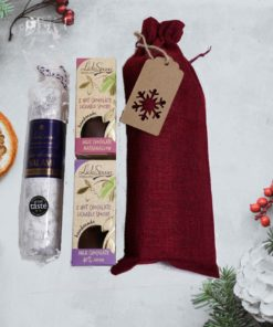 Chocolate Salami Gift Set Red